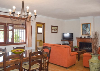 The living area at Villa Lara, Frigiliana