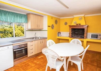 The outdoor kitchen at Villa Lara, Frigiliana