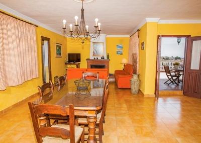 The dining area at Villa Lara, Frigiliana