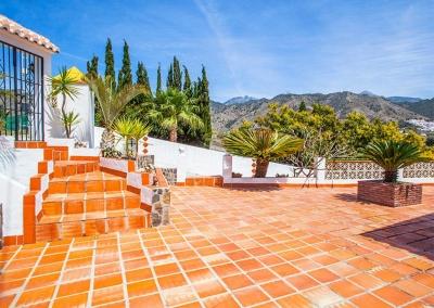 The front terrace at Villa Lara, Frigiliana