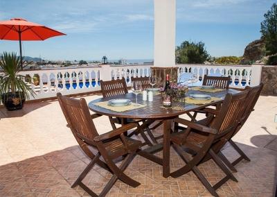 The terrace at Villa Lara, Frigiliana