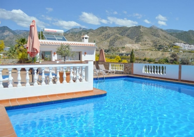 The swimming pool at Villa Lara, Frigiliana