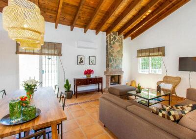 The living area at Villa Lilo, Torrox