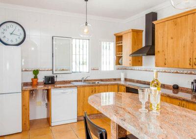 The kitchen at Villa Lilo, Torrox