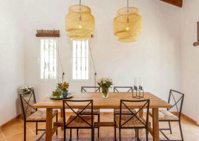 The dining area at Villa Lilo, Torrox