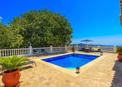 The swimming pool at Villa Lilo, Torrox