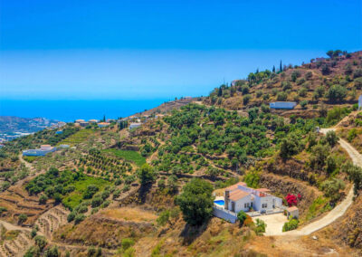 Spectacular views of the surrounding countryside from Villa Lilo, Torrox