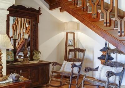 The living area at Villa Loli, Frigiliana