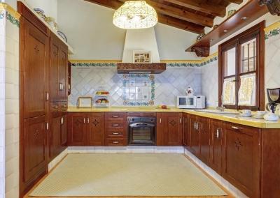 The kitchen at Villa Loli, Frigiliana