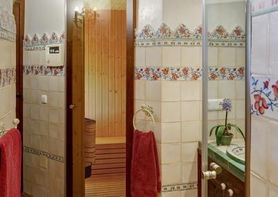 The entrance to the sauna at Villa Loli, Frigiliana