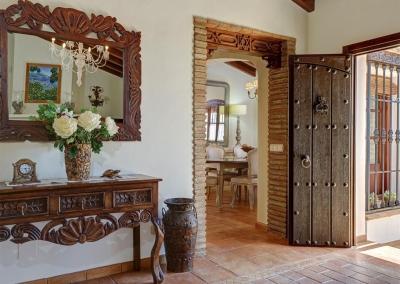 The hallway at Villa Loli, Frigiliana