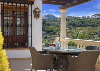 The upper terrace at Villa Loli, Frigiliana
