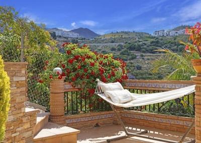 Relax in the hammock and enjoy the breathtaking views from Villa Loli, Frigiliana