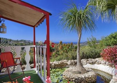 The beautifully manicured garden at Villa Loli, Frigiliana
