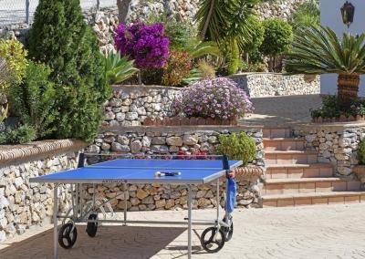 Enjoy playing table tennis on the terrace at Villa Loli, Frigiliana