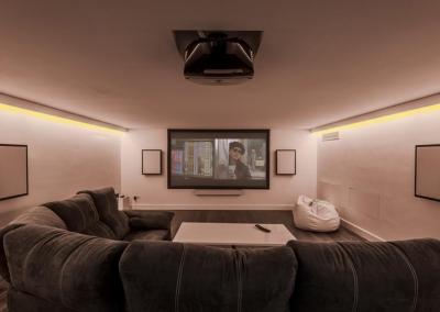 The cinema room at Villa Marques, Nueva Andalucía