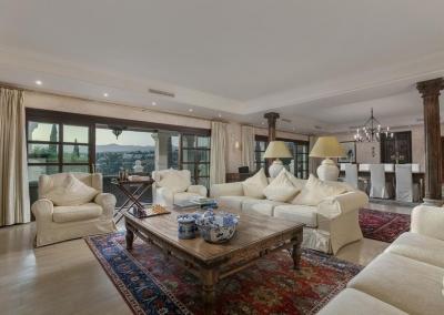 The living area at Villa Mastranto, El Paraíso