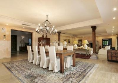 The dining area at Villa Mastranto, El Paraíso