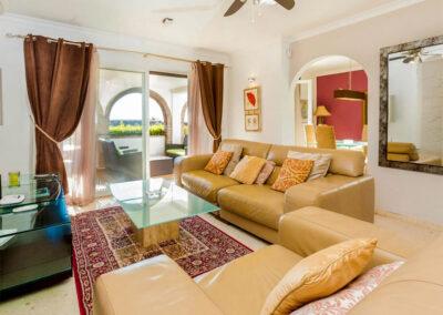 The living area at Villa Rucula, Estepona