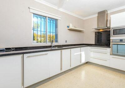 The kitchen at Villa Rucula, Estepona
