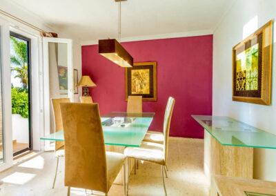 The dining area at Villa Rucula, Estepona