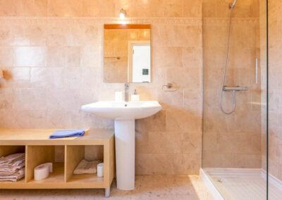 The bathroom at Villa Rucula, Estepona