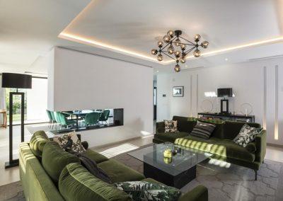 The living area at Villa Tucan, Nueva Andalucía