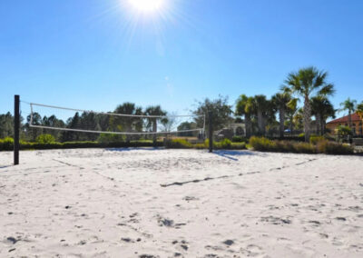 The beach volleyball court at Watersong Resort, Davenport, Florida