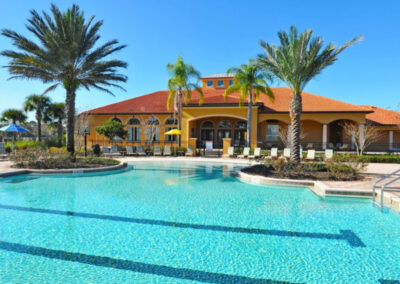 The resort swimming pool at Watersong Resort, Davenport, Florida