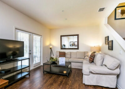 The living area at West Lucaya Village 17, Kissimmee