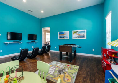 The games room at West Lucaya Village, Kissimmee