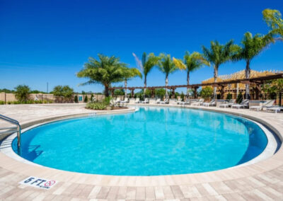 The resort swimming pool at West Lucaya Village, Kissimmee