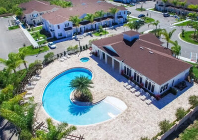 The clubhouse & resort swimming pool at West Lucaya Village, Kissimmee