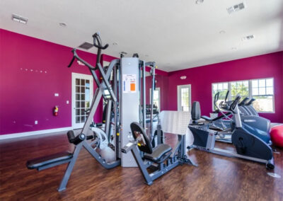 The communal fitness centre at West Lucaya Village, Kissimmee, Orlando