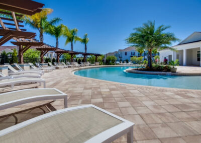 The communal swimming pool at West Lucaya Village, Kissimmee, Orlando