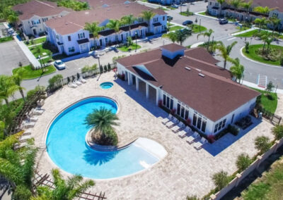 The clubhouse & swimming pool at West Lucaya Village, Kissimmee, Orlando