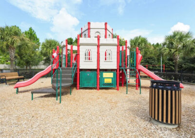 The castle-themed children's playground at Windsor Hills Resort, Kissimmee