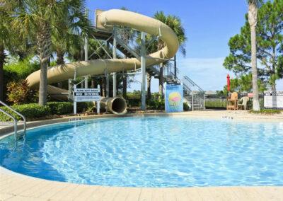 The waterslide & resort swimming pool at Windsor Hills Resort, Kissimmee