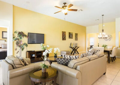 The living area at Windsor Hills Resort 515, Kissimmee
