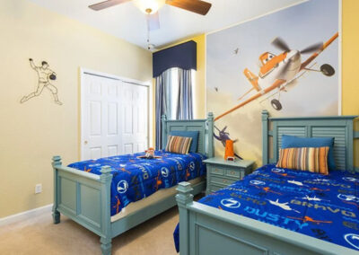 Bedroom #3 at Windsor Hills Resort 515, Kissimmee