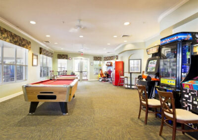 The games room at Windsor Hills Resort, Kissimmee