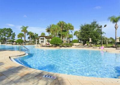 The resort swimming pool at Windsor Hills Resort, Kissimmee
