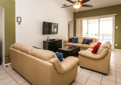 The living area at Windsor Palms Resort 21, Kissimmee, Orlando