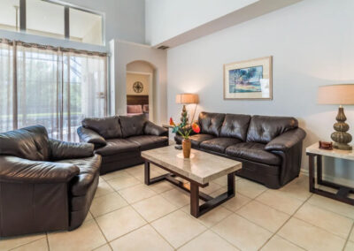 The living area at Windsor Palms Resort 6, Kissimmee