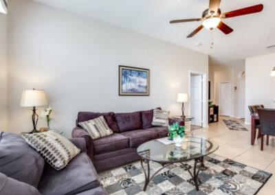 The living area at Windsor Palms Resort 60, Kissimmee, Orlando