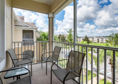 The private balcony at Windsor Palms Resort 60, Kissimmee, Orlando