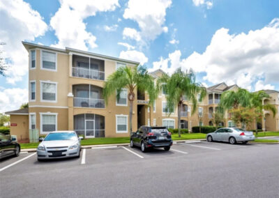 Windsor Palms Resort 60, Kissimmee is a three bed, three bath condo with open plan living and fully equipped galley kitchen. A balcony provides elevated views of the resort which has a saltwater pool, Tiki bar & sports courts. Mystic Dunes Golf within one mile.